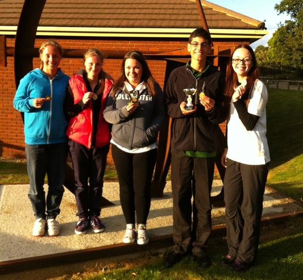 Left to Right, Amber Wilkins, Imogen Neville, Lauren Phillips, Louis Paul & Katie Bayliss.